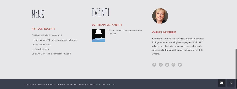 Catherine Dunne sito italiano