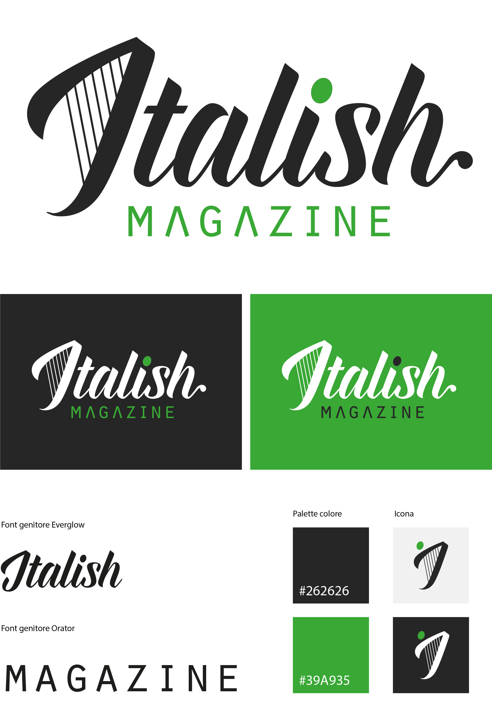 Restyling Logotipo Italish Magazine